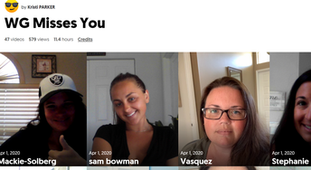 Staff at West Gate K8 used Flipgrid to send messages to their students