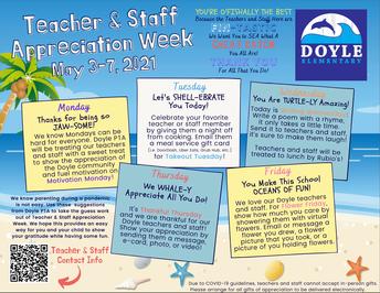 Appreciation Week is May 3rd-7th