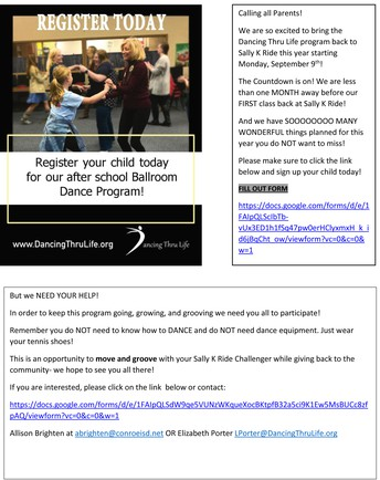 Dance Thru Life - IT'S NOT TOO LATE TO REGISTER