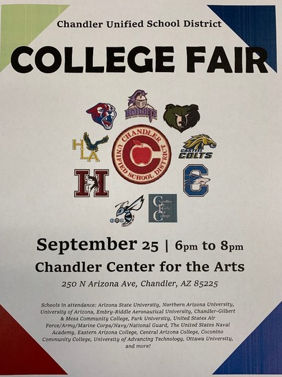 CUSD College Fair Flyer