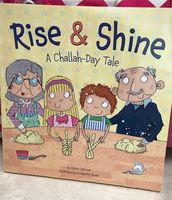 """We loved this rhyming """"Challah""""-day story while we worked on our Creation Wheels!"""