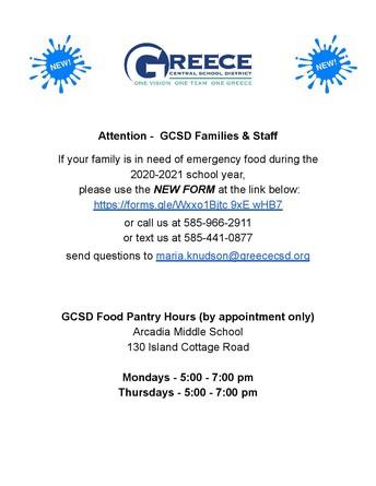 GCSD Food Pantry