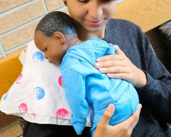 Don't be surprised if you hear babies crying around the Career Center this month! Our baby simulation program is well underway. Students will be taught basic infant care along with some social/emotional skills necessary for caring for an infant.