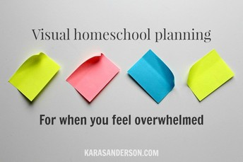 Visual homeschool planning: For when you feel overwhelmed