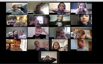 First Grade Connects on Zoom!