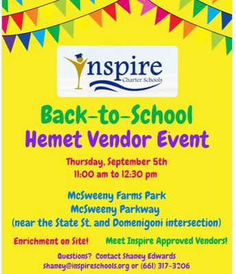 Back to School HEMET Vendor Event