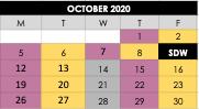 Wed Oct 7th -  Class Schedule Update