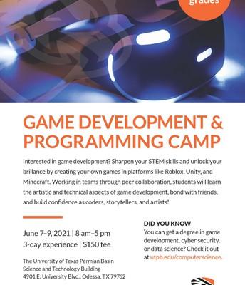 Game Development & Programming Camp