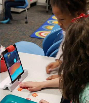 2nd Graders use OSMO for robotics and coding