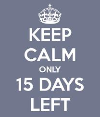 15 More School Days to Go!
