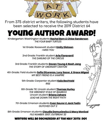 Young Author Award Flyer