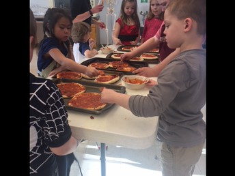 Hope school students enjoyed a Valentine's pizza party