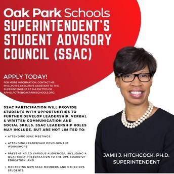 SUPERINTENDENT'S STUDENT ADVISORY COUNCIL (SSAC)