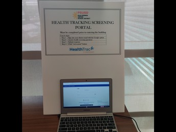 HealthTrac in place for self-screening...