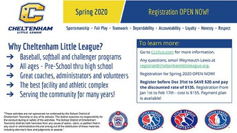 Cheltenham Little League Sign Up