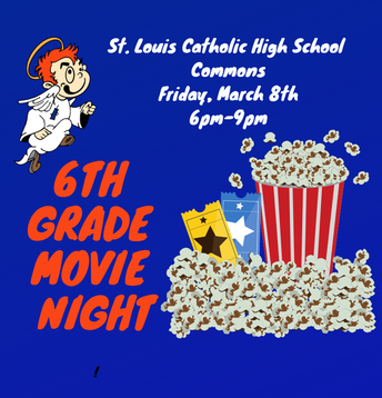 Partner School 6th Grade Movie Night is March 8