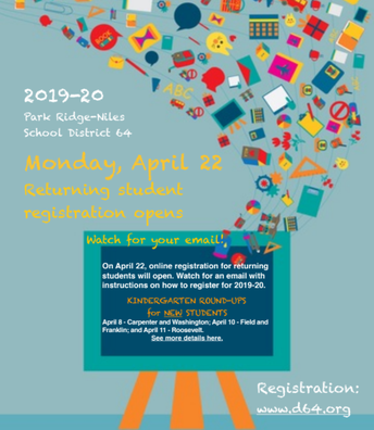 Returning Students Registration Opens April 22