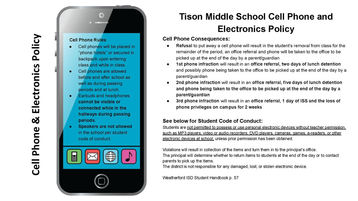 Cell Phone & Electronics Policy