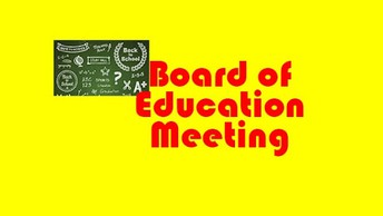 NEXT BOARD OF EDUCATION MEETING SCHEDULED FOR TUESDAY, DECEMBER 15TH