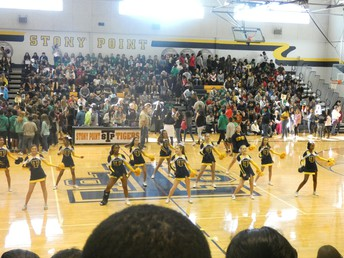 Our 8th graders were greeted with a SPHS pep rally!