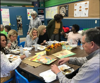 We hosted retired teachers for a delicious Thanksgiving lunch!