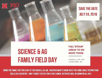 SAVE THE DATE – JULY 24, 2019 HASKELL AG LAB SCIENCE & AG FAMILY FIELD DAY