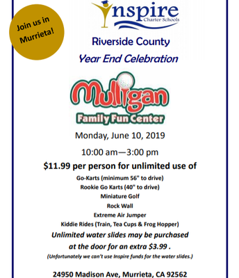RIVERSIDE COUNTY YEAR END CELEBRATION AT MULLIGAN'S