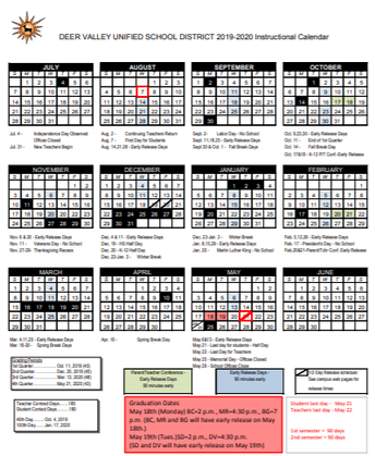 Dvusd Calendar 2020 Anthem School Updates | Smore Newsletters for Education