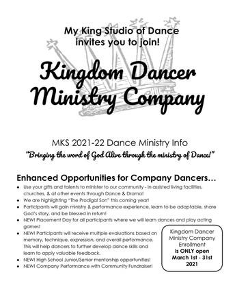 2021-22 Kingdom Dancer Ministry Company
