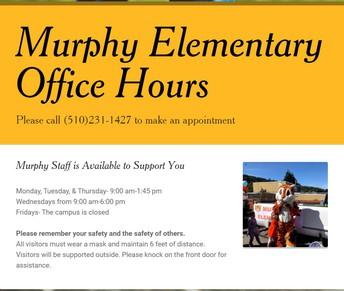 Murphy School Office Hours