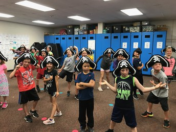 These students learned a song for National Talk Like a Pirate Day!