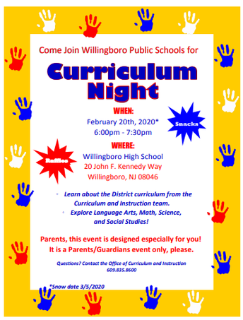 WPS Curriculum Night