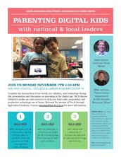 Parenting Digital Kids presentation at HSE High School November 7th