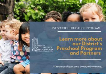Preschool Program 2021- 22 SY Updates