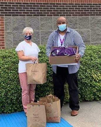 Neck Gaiters Delivered to Rockbrook Elementary