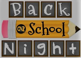 Back to School Night August 15th!!!