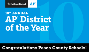 Pasco = College Board AP District of the Year