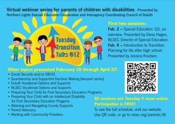 Family Resource: Tuesday Transition Talks, Feb - April