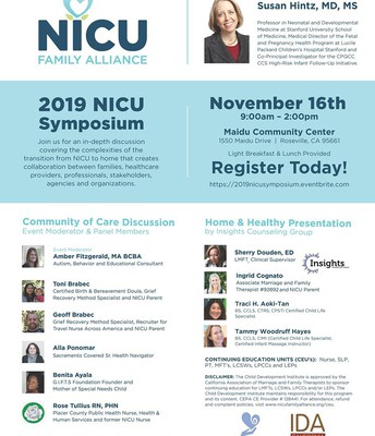 2019 NICU Symposium Flyer
