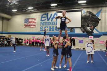 Evans Pink Out Pep Rally