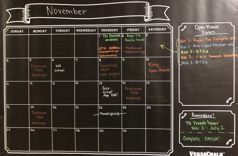 November Calendar of Events