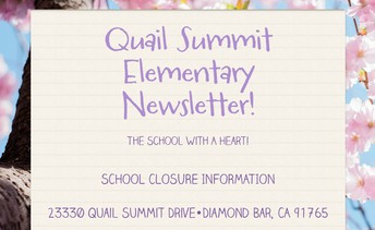 Link to QS March School Closure Newsletter with links to additional online resources