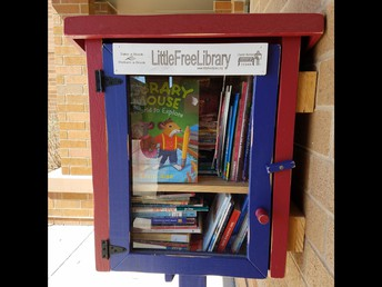 Little Free Library (right outside the Jackson Main Entrance)