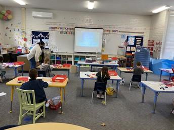 PCY Kinder Students Hard at Work
