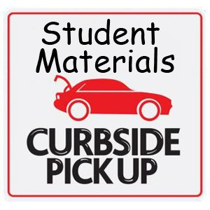 MATERIAL PICK UP- THURSDAY (Jan. 14th) FROM 4-6PM
