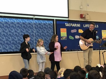 Mr. Gossett walking us through our fist Sassarini Life skills Song!