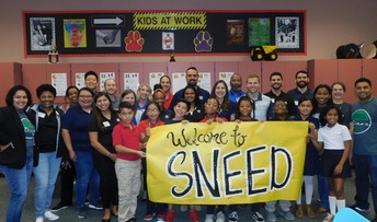 Sneed Elementary School was spotlighted in the Junior Achievement Newsletter.