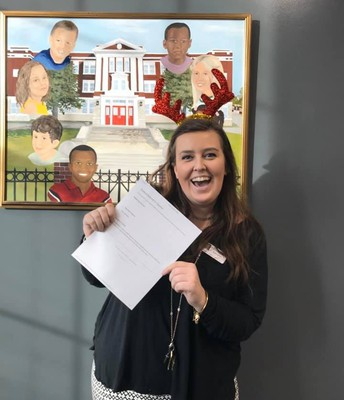 """Ms. Marshall's positive office referral stated, """"She just got to LMMS and she is doing an excellent job with teaching LMMS kids! I am looking forward to letting her teach me the rest of the school year !!"""""""