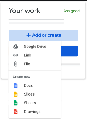 Add Slides- in Google Classroom