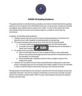 GC Grading Guidance
